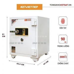 Két Sắt Chống Cháy Vân Tay Việt Tiệp VT90 trắng