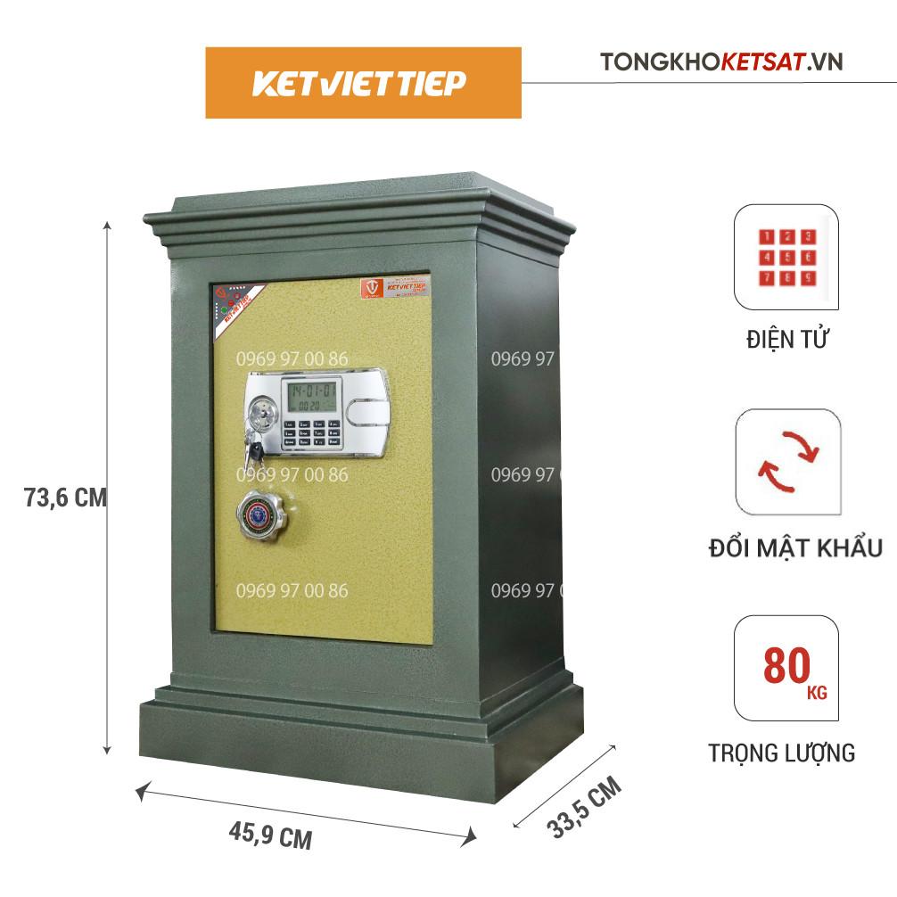 két sắt giá rẻ khóa điện tử Việt Tiệp k305dt