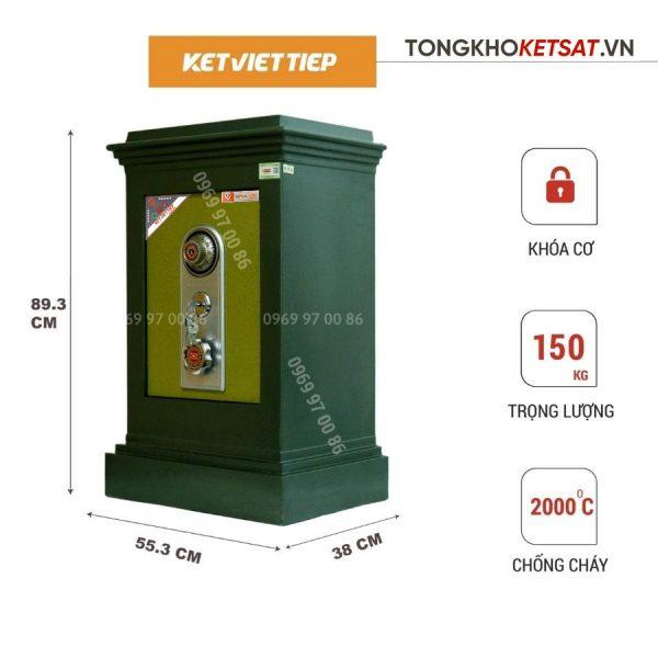 Két sắt khóa cơ Việt tiệp giá rẻ K506KC