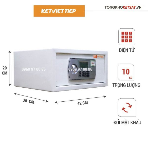 Két Sắt Mini Khách Sạn Điện Tử Việt Tiệp KS402DT