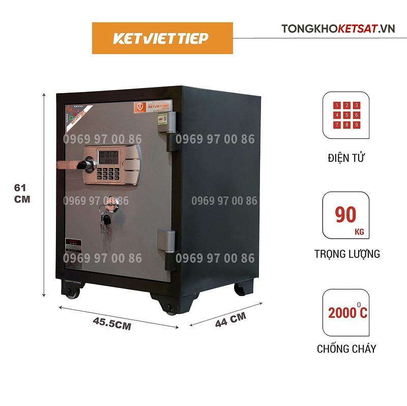 Két sắt chống chát điện tử việt tiệp kv405dt giá rẻ