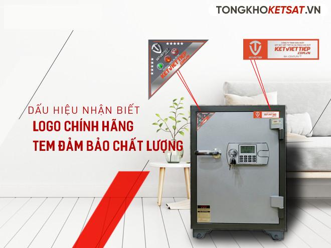 Tem sắt và tam đảm bảo chất lượng của két sắt Việt Tiệp giá rẻ