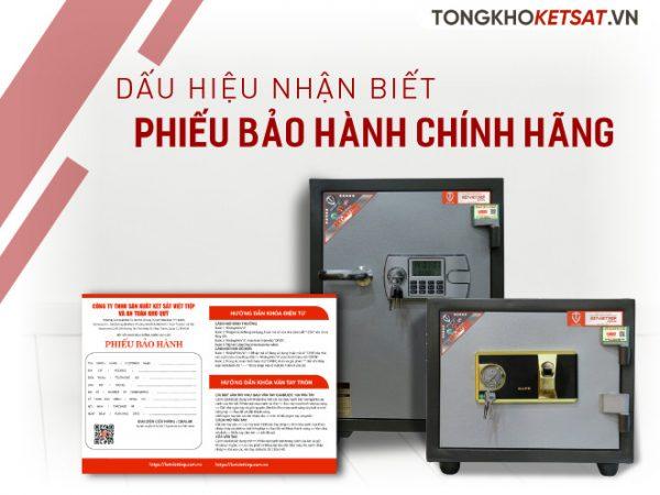 Phiếu bảo hành của két sắt chính hãng Việt Tiệp