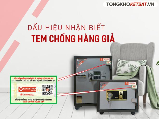 tem chống hàng giả của két sắt Việt Tiệp chính hãng
