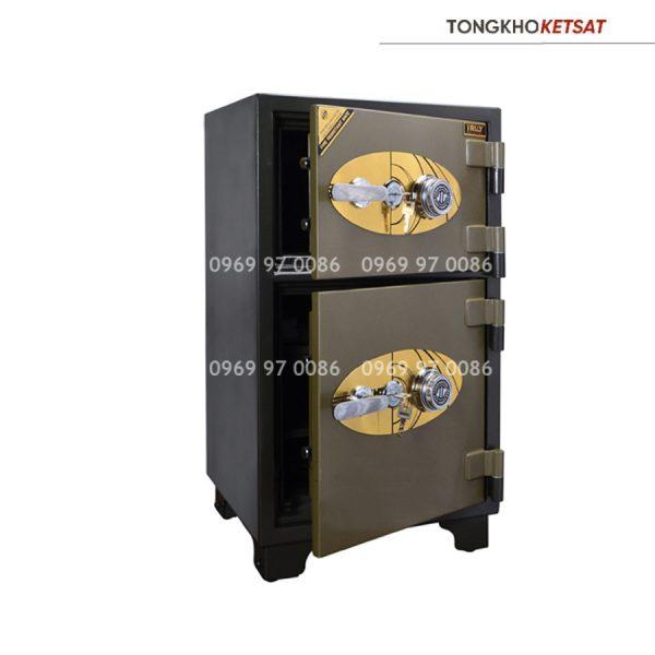 Két sắt Truly gold 2 tấng TOG-0 khóa cơ chính hãng